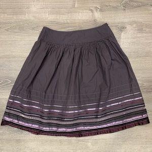 Apostrophe | Purple Skirt with Satin Ribbon Detail